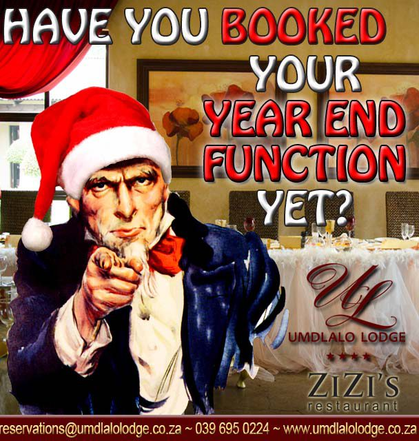 Year end functions: Book early and save BIG!