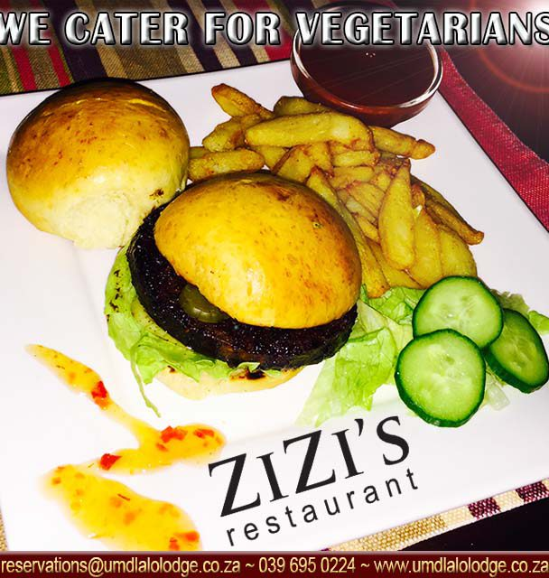 We cater for vegetarians