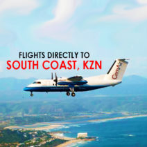 Flights straight to the South Coast, KZN
